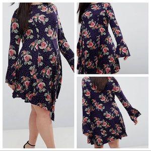 ASOS Floral Asymmetrical Dress
